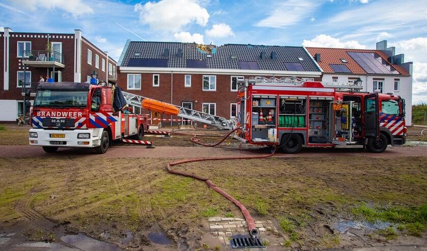 Tijdens de brand van 13 september jl.