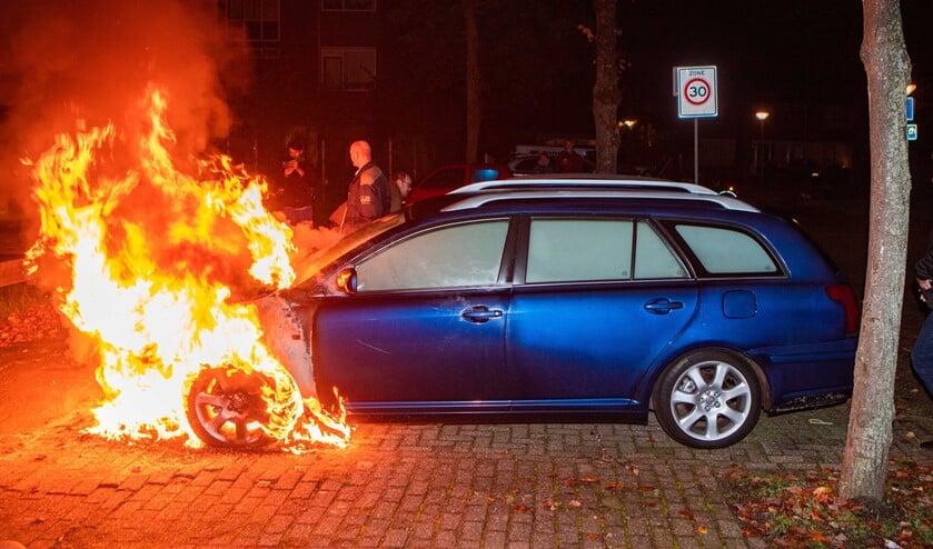 Gisterenavond rond 23.00 uur was er een autobrand op de Zegge.