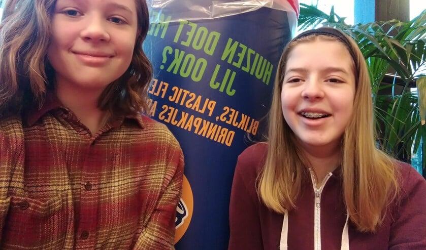 Elodie Jansen en Emma Brugman, twee van de Kanjers van 2018.