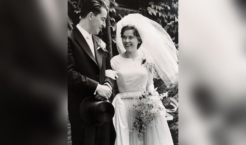 Wim en Iny op hun huwelijksdag op 28 mei 1960.