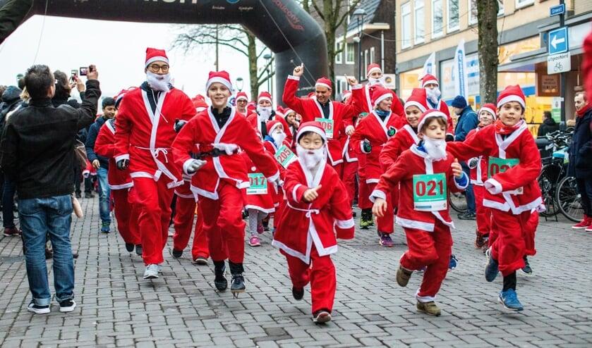 De Santa Run vorig jaar.