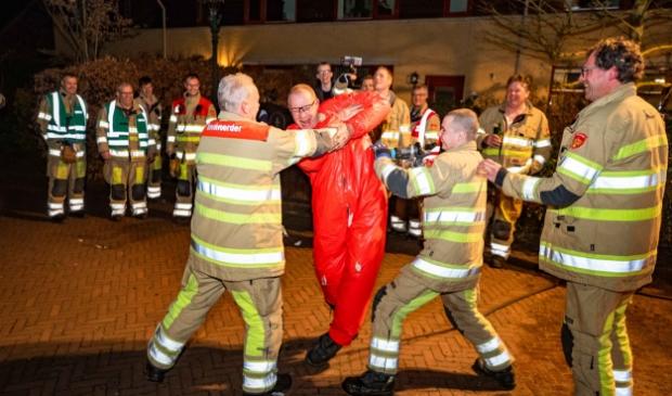 Februari: Rietdekker Kees de Boer stopt als brandweerman. Foto: Bastiaan Miché  © Enter Media