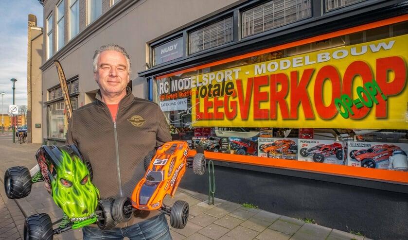 Na bijna twintig jaar stopt Peter Verkerk met zijn hobbywinkel.