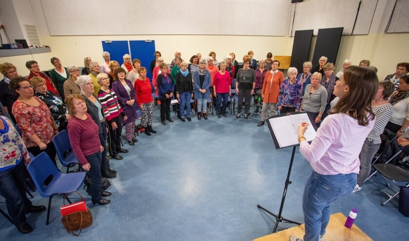 Laatste repetitie voor het jubileumconcert komende zaterdag.