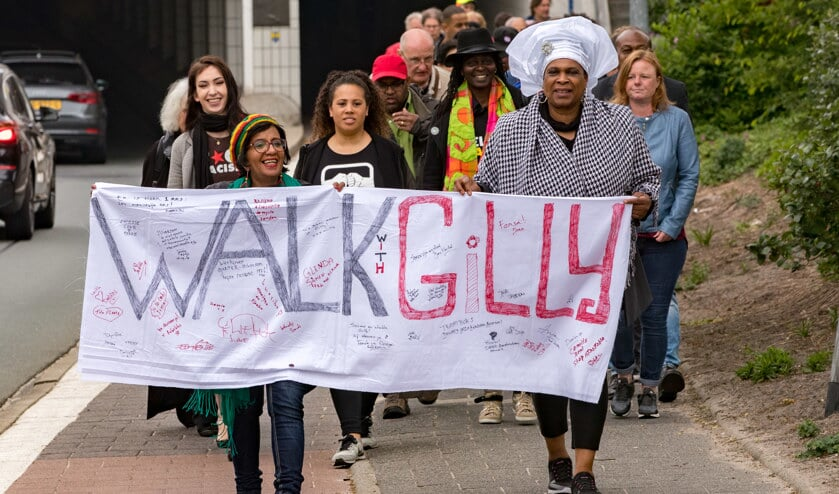 Eerder was er een mars tegen racisme in Hilversum.