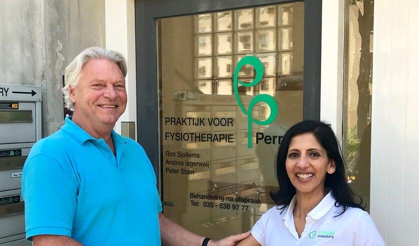 Ron Sjollema geeft het stokje van zijn praktijk Fysiotherapie Perry per 1 juni over aan Samira Waanders.