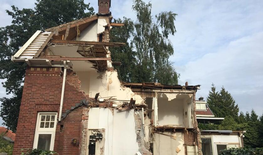 De gewraakte - en ondertussen gesloopte - villa.
