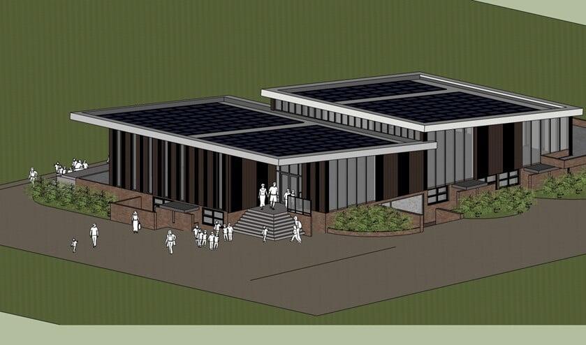 Zo gaat het nieuwe clubhuis van SV Laren'99 eruit zien.