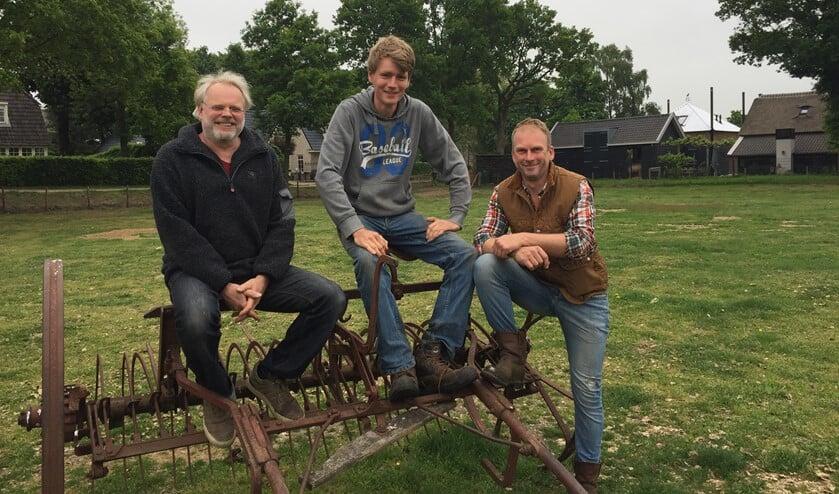 V.l.n.r.: Sacha Knoop, Joep de Jong en Willem van den Hazel.