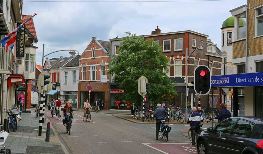 De kruising Havenstraat - Vaartweg.