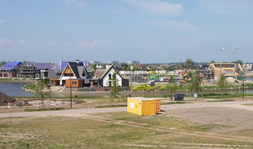 De Blaricummermeent tijdens de ontwikkeling van de wijk.
