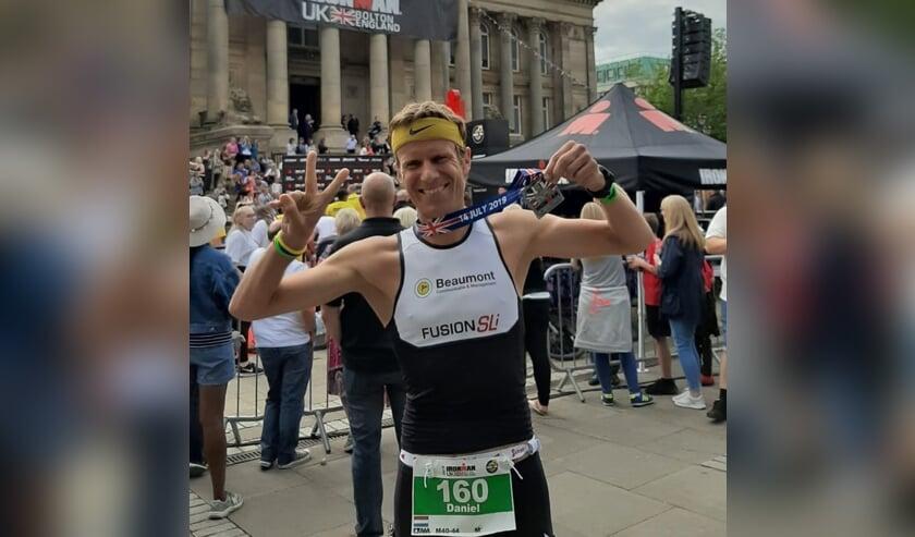 Een mooie tweede plek voor Daniël Nagel op de Ironman in Bolton.