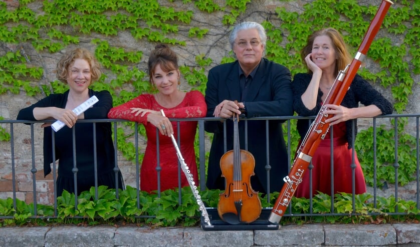 <p>The Amsterdam Consort (fluit Jeannette Landré | fagot Marieke Stordiau | viool, altviool Albert Adams | piano Mariken Zandvliet)</p>