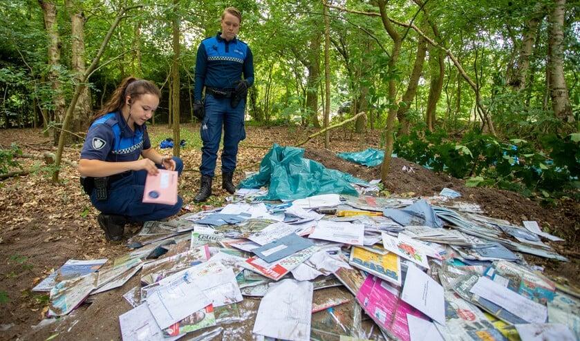 Woensdag werd de post ontdekt.