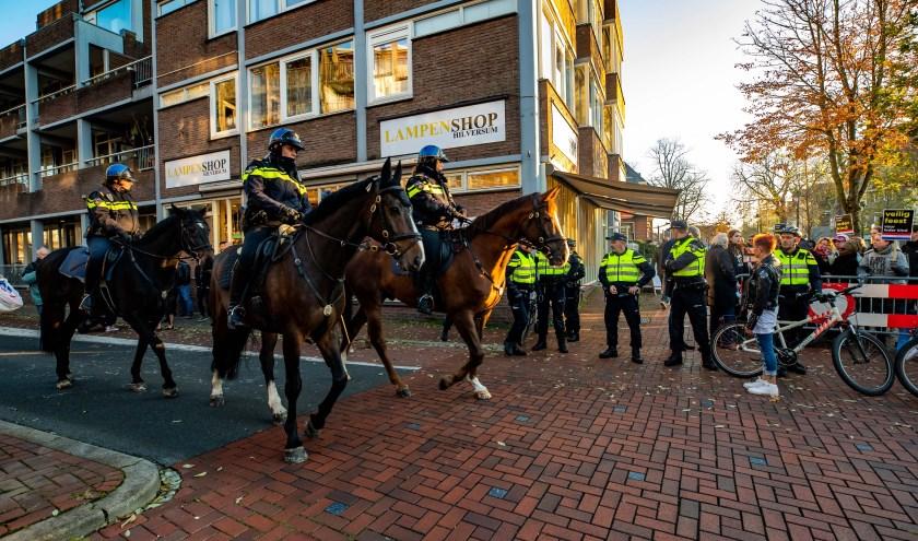 Veel politie op de been tijdens de intocht in 2018.