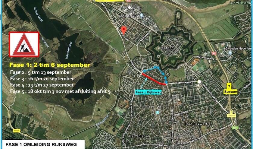 Het eerste deel van de afsluitingen start 3 september