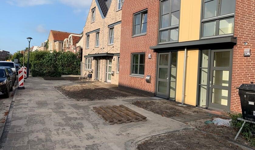 De woningen op de Ouddiemerlaan.