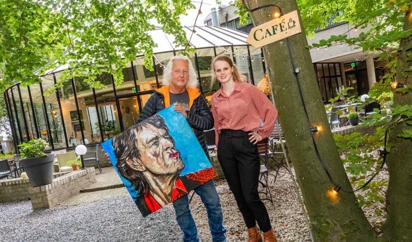 Het werk van Eddy 'Edjo' Geerlings is vanaf zaterdag te zien in het Wisseloord Café dat sinds maart wordt gerund door Jaimie Lloyd.