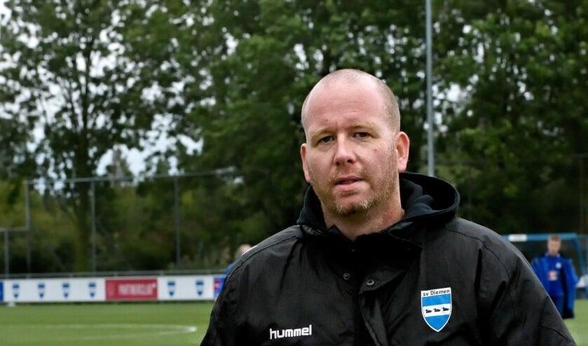SV Diemen-trainer Mark Steur.