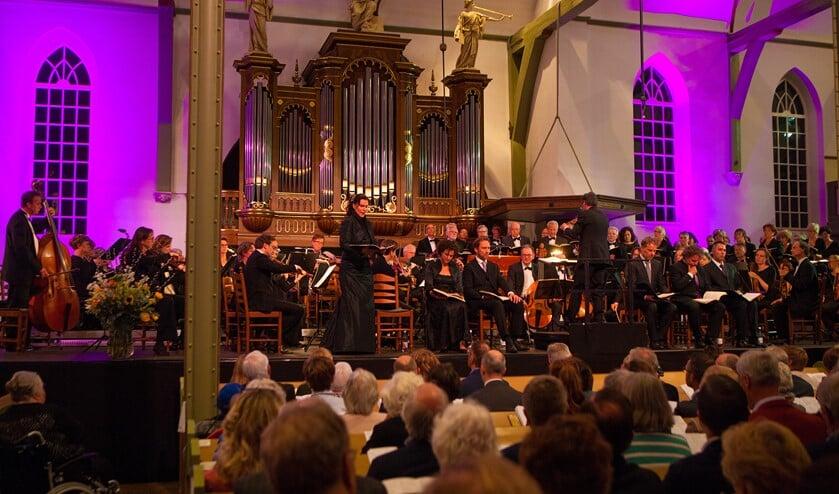 Een foto van een eerdere uitvoering van de Matthäus-Passion in Huizen.