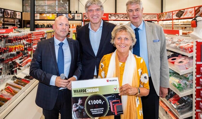 Jurgen de Lange, Wimar Jaeger, Winfried Blum en Renate Westerlaken-Loos.