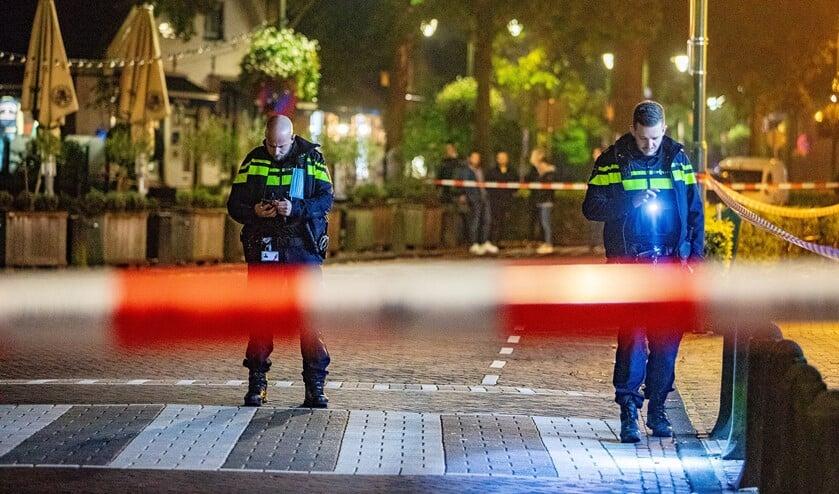 <p>Gisterenavond zocht de politie al naar sporen, maar trof niets aan.</p>