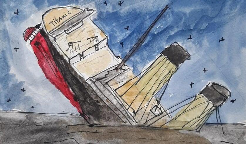 <p>De ondergang van de Titanic.</p>