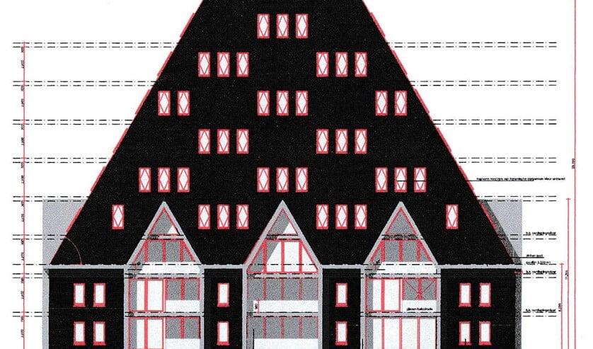 <p>De VVG kreeg deze nieuw ingediende bouwtekening van de gemeente Gooise Meren.</p>
