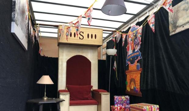 <p>De huiskamer van Sinterklaas.</p>