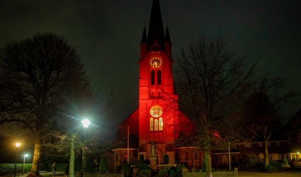 <p>Een rode Vituskerk voor godsdienstvrijheid.</p>