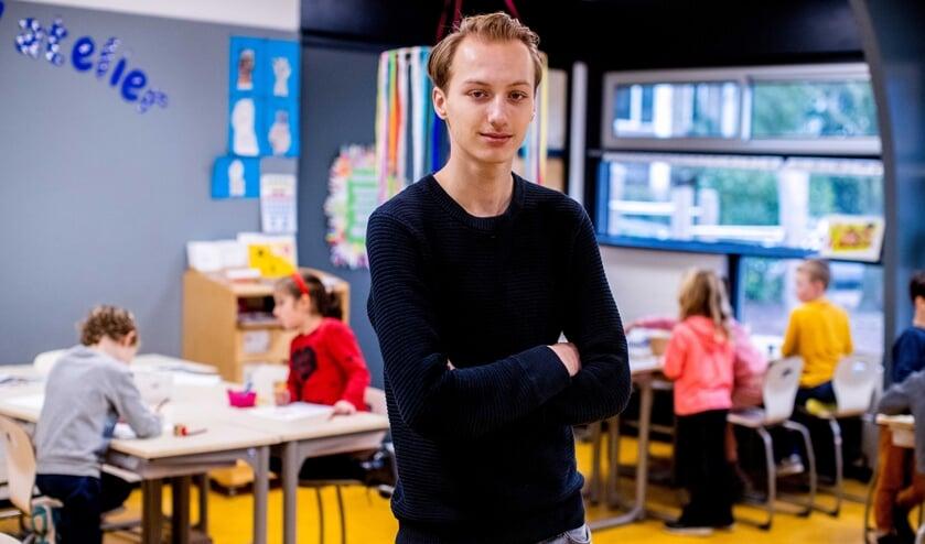 Over een paar jaar hoopt Joery van den Bos les te geven aan groep 7 of 8. De leerling van het Comenius College wil graag het basisonderwijs in.