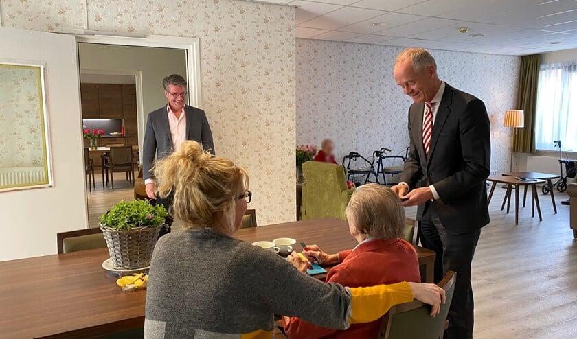 Burgemeester Niek Meijer op bezoek bij De Bolder.