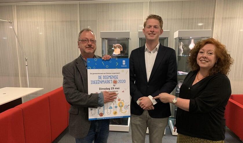 Peter Prins, Rick Poelwijk en Janneke de Graaff.