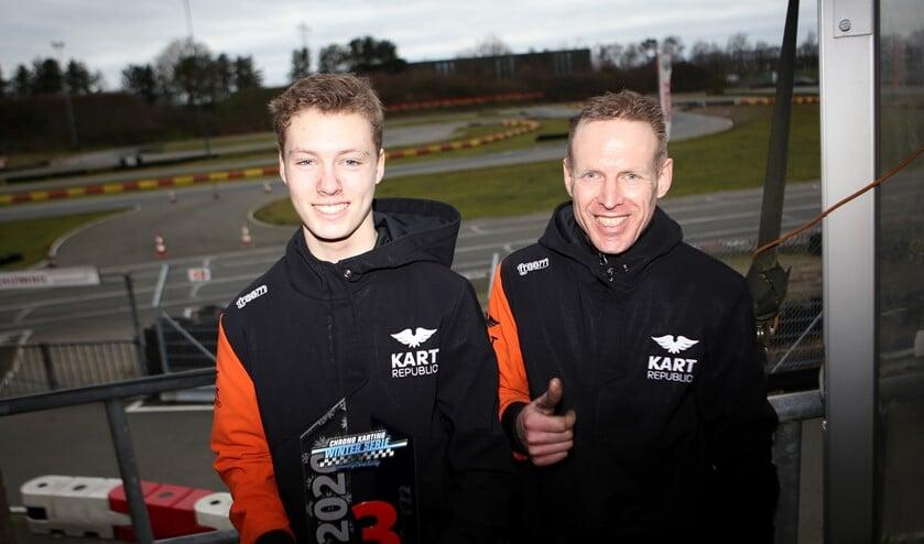Coen Doorn met trainer/coach Gert Jager.