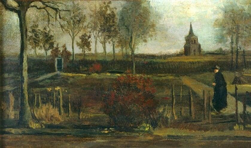 'Lentetuin, de pastorietuin te Nuenen in het voorjaar'van Vincent van Gogh.