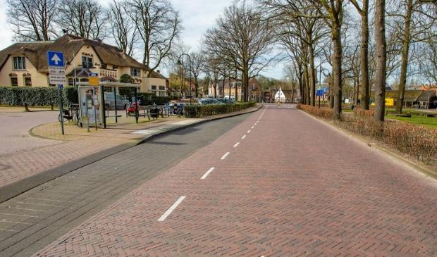 Lege straten in het begin van de coronacrisis, zoals hier in Laren.