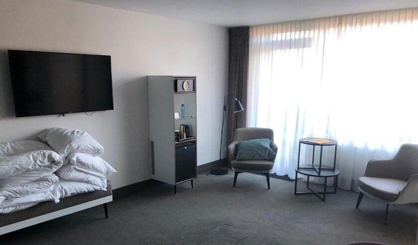 Eén van de kamers in De Witte Bergen die beschikbaar komt voor de zorg.