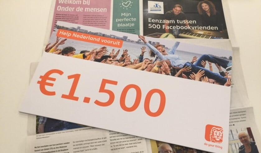 Dankzij de stemmen van inwoners heeft het initiatief om eenzaamheid onder mensen te bestrijden deze donatie gekregen.