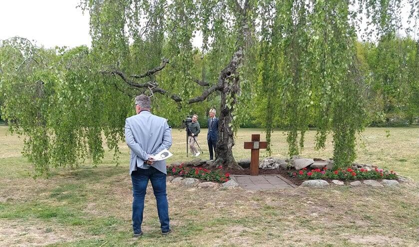 Opnamen voor de documentaire in het Warandepark.