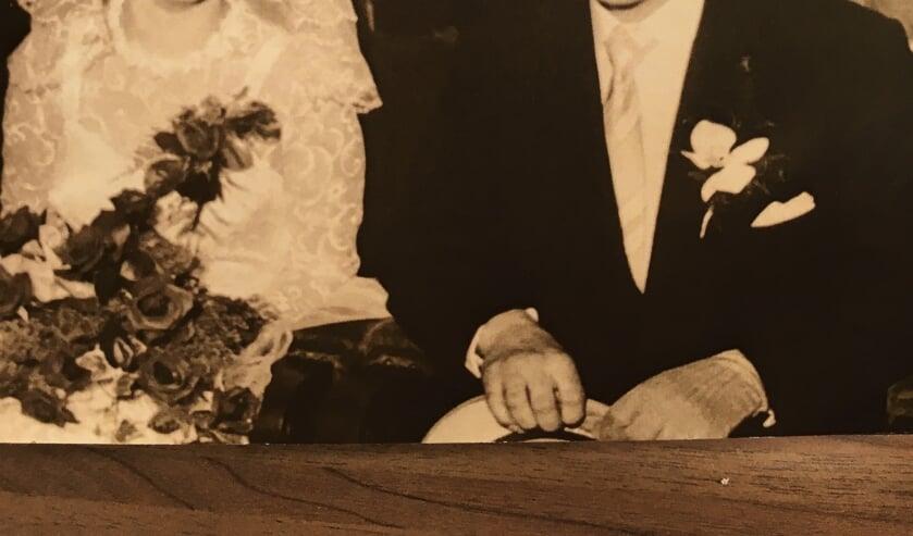 Gert en Gerda op hun trouwdag.