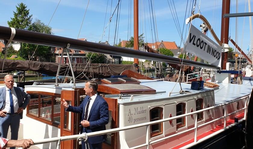 Bruine Vloot in Muiden.