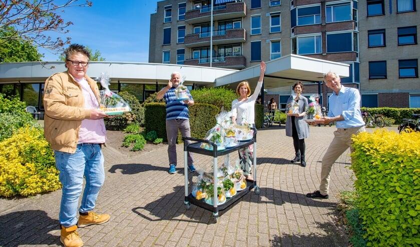 Op de locatie Lorentzweg in Bussum werden de pakketten afgeleverd.