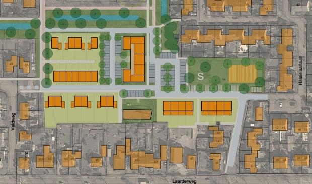 Zo ziet het stedebouwkundig plan er voorlopig uit voor het gebied van De Hilt.