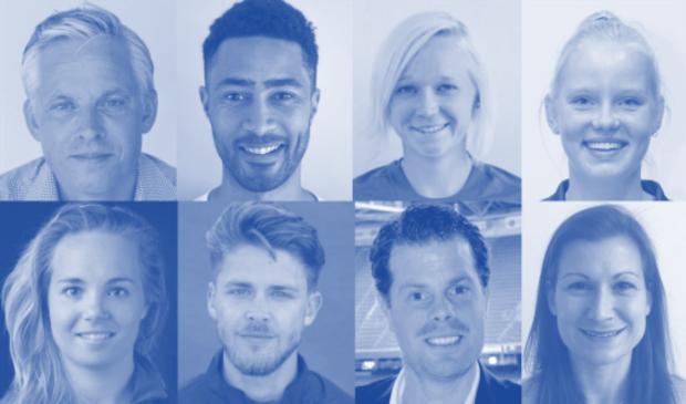 V.l.n.r. boven: Serge Spoelstra, Darren Cheesman, Katerina Lacina, Esmee Broekhuizen, Onder: Marit Pronker, Joachim Hulscher, Frank Balvers en Julia Müller.