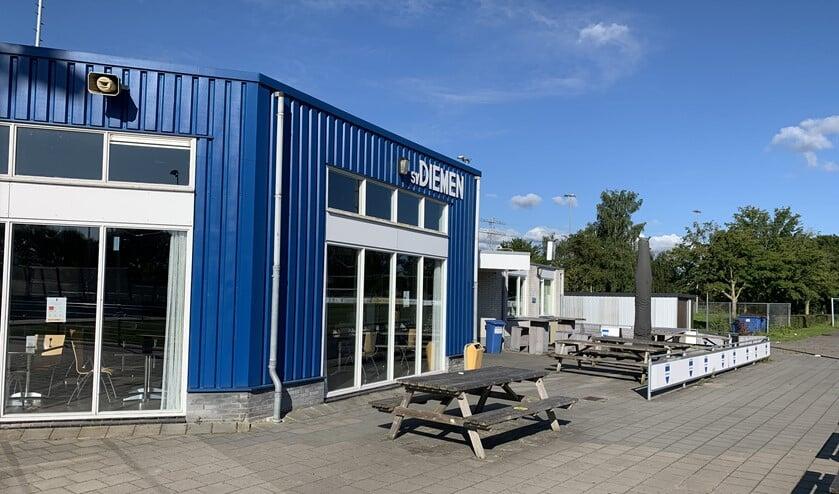 <p>Het clubgebouw van SV Diemen.</p>