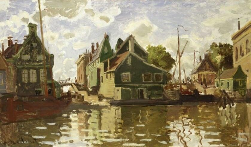 De Dam en de sluizen aan de Achterzaan van Claude Monet. Bruikleen Van Vlissingen Art Foundation