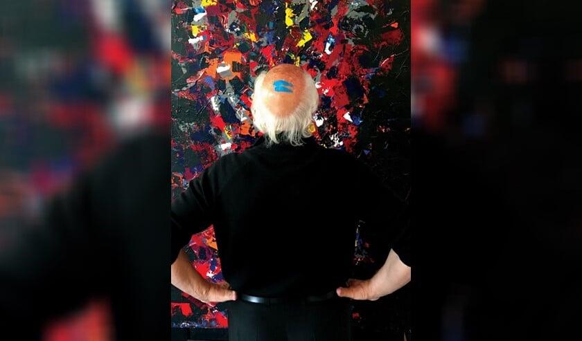 Herman van Veen startte in 2000 met schilderen en stelde al eens eerder werk tentoon in Singer Laren.
