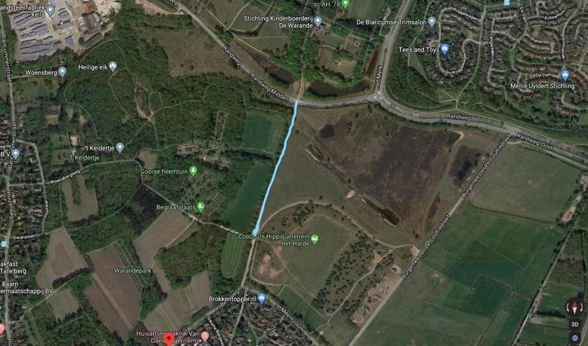 <p>De straatroof vond plaats op het fietspad tussen Blaricum en Huizen.</p>