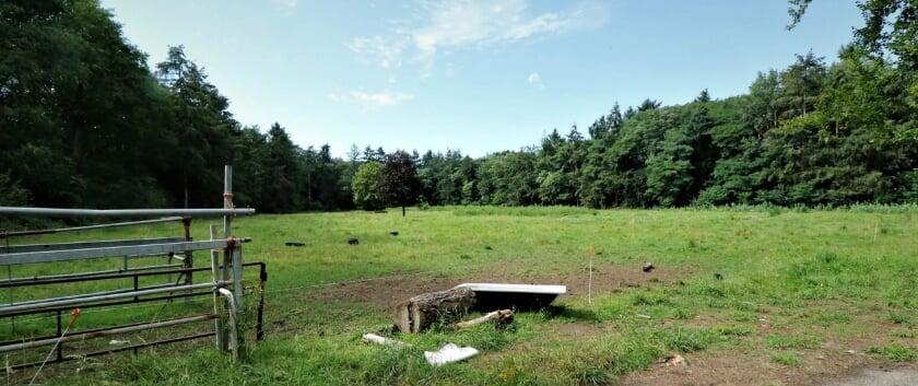 <p>Het terrein aan de Driftweg waar projectontwikkelaar Goossens appartementen wil realiseren.</p>
