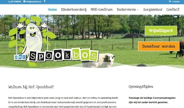 <p>De landingspagina van de nieuwe website van Het Spookbos.</p>